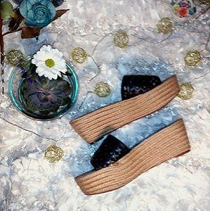 Tory Burch Wedge Platform Slide Sandals Size 8.5